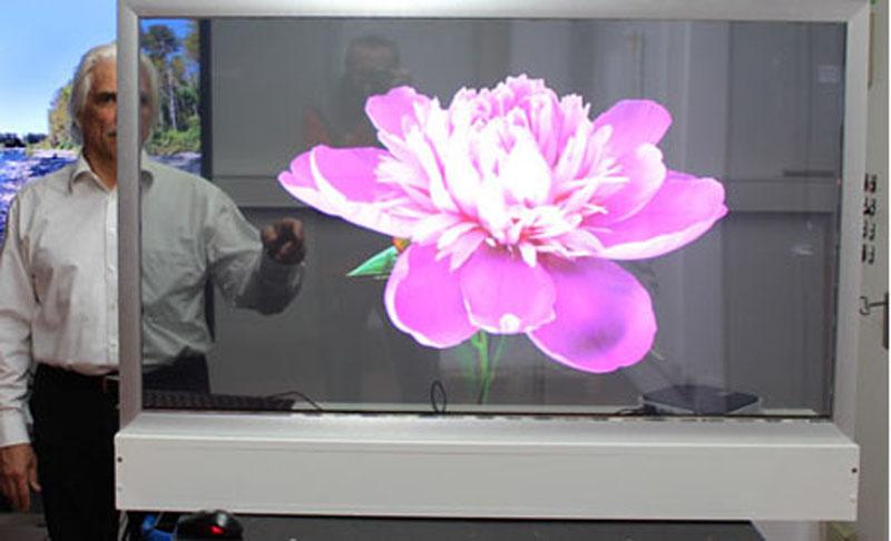 eyevis zeigt transparentes oled display auf ise techmagazin. Black Bedroom Furniture Sets. Home Design Ideas