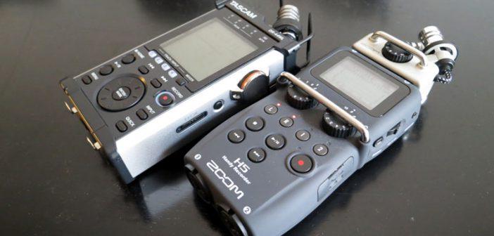 Zoom H5 - Tascam DR-44WL