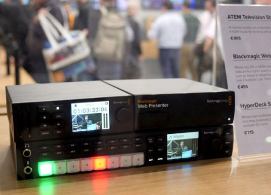 ISE 2017: Blackmagicdesign Web Presenter und AJA U-TAP