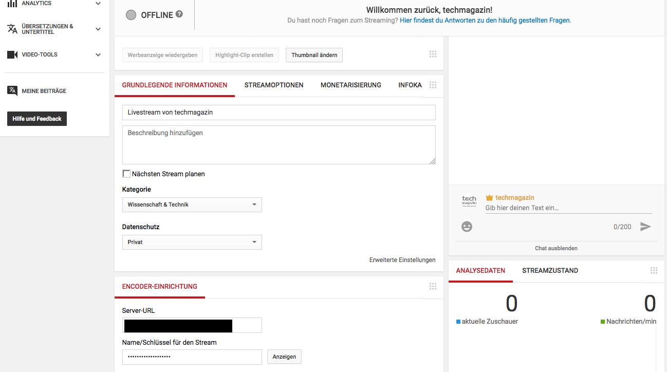 YouTube_Streaming Code